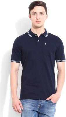 Blackberrys Solid Men's Polo Dark Blue T-Shirt