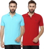 Youthen Solid Men's Polo Neck Blue, Red ...