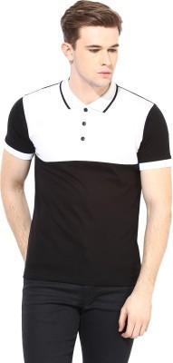 Benoit Solid Men's Polo Black T-Shirt