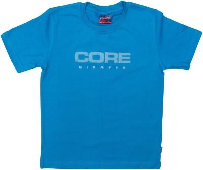 POKIZO Solid Baby Boy's Round Neck Blue T-Shirt
