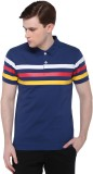 CLUB YORK Striped Men's Polo Neck Blue T...