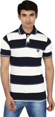 Air Life Style Striped Men's Polo Neck T-Shirt