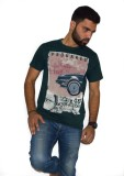 Armoire Printed Men's Round Neck Green T...
