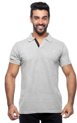 Sports 52 Wear Solid Men's Polo Neck Grey T-Shirt