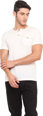 Northern Lights Solid Men's Henley T-Shirt