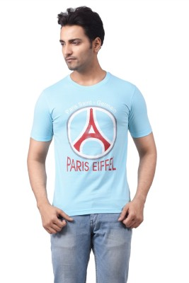Regnum Printed Men's Round Neck Light Blue T-Shirt