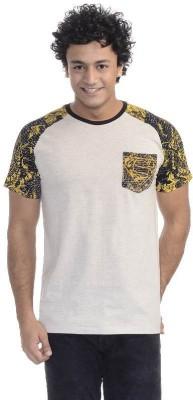 Superman Printed Men's Round Neck Grey T-Shirt