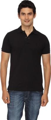 Scottish Solid Men's Polo Black T-Shirt