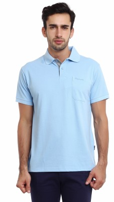 Classic Polo Solid Men's Polo Neck Light Blue T-Shirt