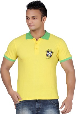 Stephen Armor Embroidered Men's Polo Yellow T-Shirt