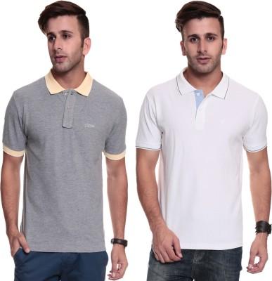 TSG Breeze Solid Men's Polo White, Grey T-Shirt