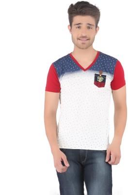 Stride Printed Men's V-neck T-Shirt