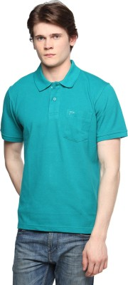 Tempt Solid Men's Polo Neck Light Green T-Shirt