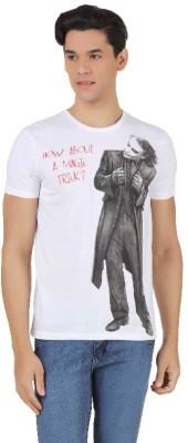 Batman Printed Men,s Round Neck White T-Shirt