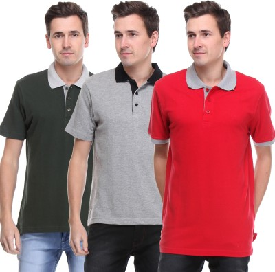 OPG Solid Men's Polo Multicolor T-Shirt