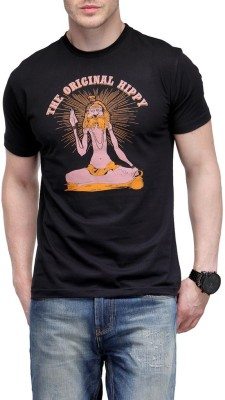 Rootstock Printed Men's Round Neck Black T-Shirt