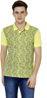Crux&Hunter Printed Men's Polo Neck Green T-Shirt