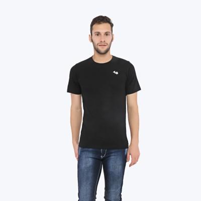 Triplegrass Solid Men's Round Neck Black T-Shirt