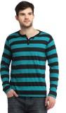 Bigidea Striped Men's Henley Dark Green,...