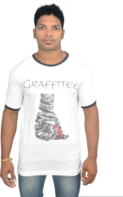 Graffitee Printed Men's Round Neck T-Shirt