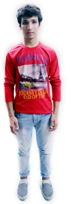 Red Mango Printed Men's Round Neck T-Shirt