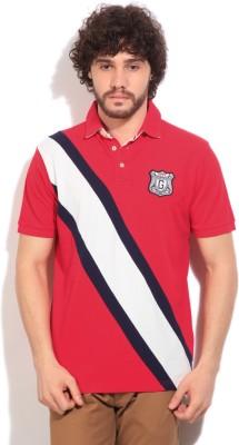 Gant Solid Men's Polo White, Blue, Red T-Shirt