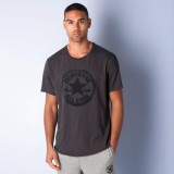 Converse Solid Men's Polo Neck Grey T-Sh...
