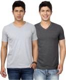 Top Notch Solid Men's V-neck Grey, Grey ...