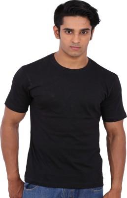 Rat Trap Solid Men's Round Neck Black T-Shirt