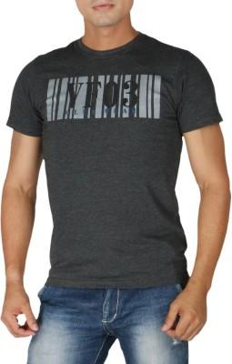 Vettorio Fratini Printed Men,s Round Neck Black T-Shirt
