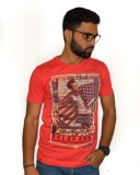 Armoire Printed Men's Round Neck Pink T-...