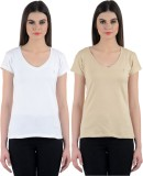 Ultrafit Solid Women's V-neck T-Shirt