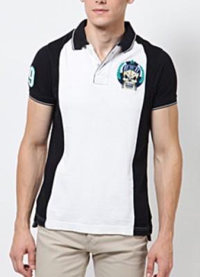 Blacksoul Solid Men's Polo White T-Shirt