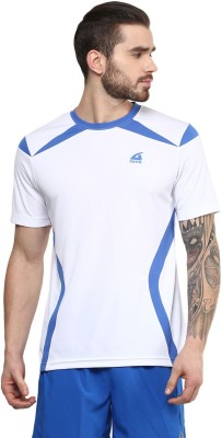 Aurro Solid Men's Round Neck White T-Shirt
