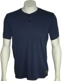 Cool Club Solid Men's Henley Dark Blue T...