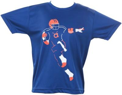 Anthill Graphic Print Boy's Round Neck Blue T-Shirt