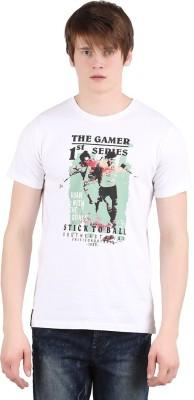 Moonwalker Printed Men's Round Neck White T-Shirt