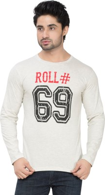 Alan Jones Graphic Print Men's Round Neck Grey T-Shirt