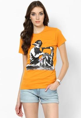 Blotch Printed Women's Round Neck T-Shirt