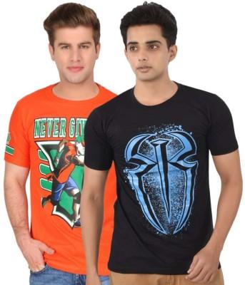 ILYK Printed Men's Round Neck Multicolor T-Shirt