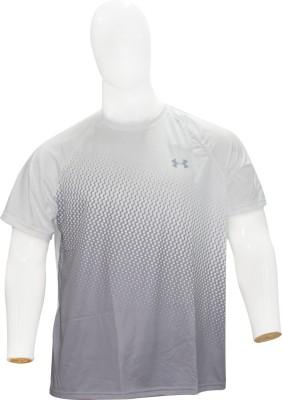 Under Armour Printed Men's Round Neck White T-Shirt