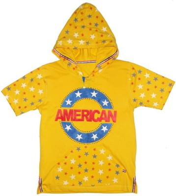Appleeye Printed, Applique, Embellished Boy's Hooded T-Shirt