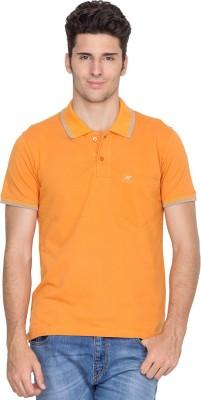 Fort Collins Solid Men's Polo Neck Orange T-Shirt