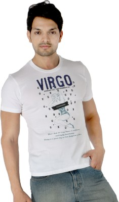 Enigma Printed Men's Round Neck White T-Shirt