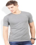 Thisrupt Solid Men's Round Neck Grey T-S...