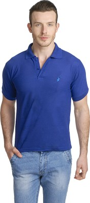 Green Wich United Polo Club Solid Men's Polo Blue T-Shirt