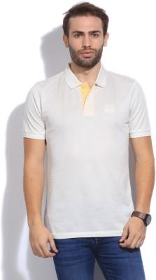 Arrow Sport Solid Men's Polo White T-Shirt
