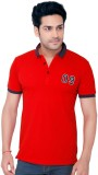 Goplay Solid Men's Polo Neck Red T-Shirt