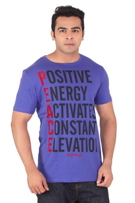 Radbone Printed Men's Round Neck Purple T-Shirt