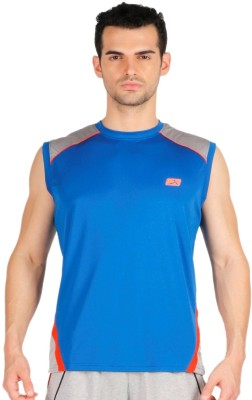 Vector X Solid Men's Round Neck Blue T-Shirt